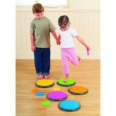 The tactile discs, made of nice-to-touch rubber, contain 5 different tactile structures, each with its own colour. Each of the 5 structures can be found on a large disc for positioning on the floor, as well as on a small disc that the child will be able to hold in their hands. £55.14 inc VAT