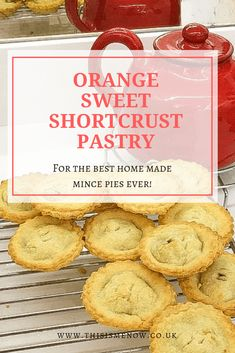 Orange sweet shortcrust pastry – for the best mince pies ever! Pastry Recipes, Pie Recipes, Veggie Recipes, Veggie Meals, Recipies, Shortcrust Pastry Mince Pies, Sweet Shortcrust Pastry Recipe, Best Mince Pies, Gingerbread Cake