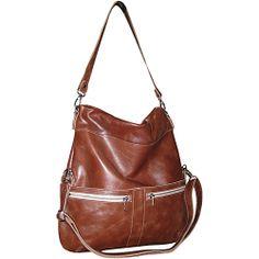 #Handbags, #LeatherHandbags - Brynn Capella Lauren Foldover Crossbody Bag Brown Eyed Girl - Brynn Capella Leather Handbags