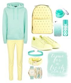 """#24 Mint&Light yellow"" by anna-daddario ❤ liked on Polyvore featuring A.X.N.Y., 10 Crosby Derek Lam, Topshop, adidas, RED Valentino, Alexandre Vauthier, Simons and FCTRY"