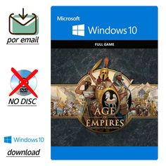 Age of Empires Definitive Edition Windows 10 PC Key Download Code por Email, veracity velocity variety volumen are key factors informativo. Given in pc online games, when lack info ir instructions or modify then is fake. Age Of Empires, Pc Online, Online Games, Windows 10 Download, Live Cd, Xbox Live, Pc Game, Microsoft Windows, Factors