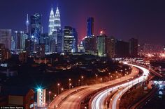 The roads may be devoid of traffic here in Kuala Lumpur, but it simply gives the light trails more prominence