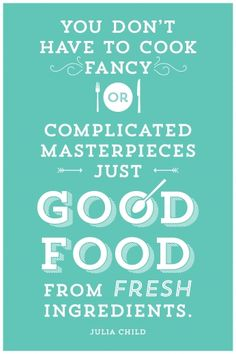 Poster Good Food From Fresh.