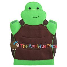 Turtle Hand and Finger Puppet In The Hoop by TheAppliquePlace, $4.00