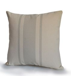 Decorative throw pillow cover in organic cotton with gray grain sack geometric stripes. This cushion cover is available in different size. It works as a great add to a modern, contemporary, country or