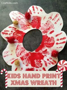 This quick Kids Christmas craft tutorial is lots of fun to make and the kids will truly enjoy the finger painting. You could create these on card stock or a canvas frame for a Christmas gift or cla. Popsicle Stick Christmas Crafts, Christmas Arts And Crafts, Christmas Poems, Christmas Activities, Diy Christmas Gifts, Christmas Projects, Kids Christmas, Holiday Crafts, Christmas Recipes