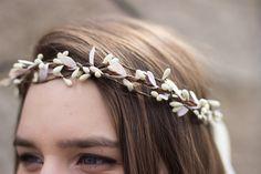 Ivory Twig Floral Crown. Bohemian. Woodland. by rosesandlemons, $42.00, easy DIY!