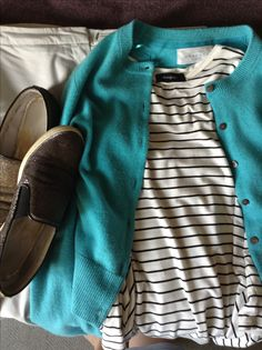 grey Kiin trousers, striped M&S top, turquoise cardi, R&B sparkle shoes Sparkle Shoes, Birkenstock Boston Clog, Capsule Wardrobe, Trousers, Turquoise, Grey, Collection, Fashion, Trouser Pants
