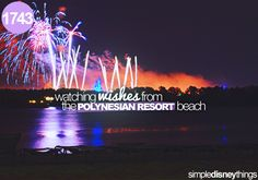 1743. Watching wishes from the Polynesian resort.  --- While eating a Pineapple Dole Whip! ❤