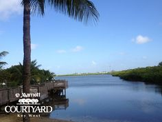 Such a beautiful view from our private beach! #KeyWest #KeyWestHotel #marriottcourtyardkeywest