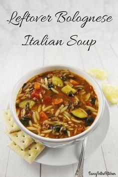 Leftover Bolognese Italian Soup