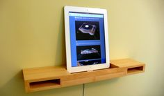 iPad wood audio shelf, Would use this as a my book shelf / Digital Library