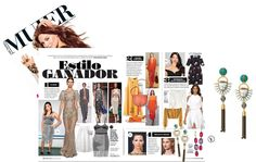 """Siempre Mujer-Feb/March issue featuring the Totem Tassel Chandeliers in the article, """"Estilo Ganador"""" (Style Winner)."""