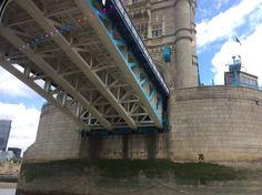 Going under Tower Bridge