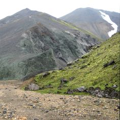 Landmannalaugar, green mountain