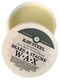 RAW STEEL Beard & Mustache Conditioner WAX Treatment with Natural Beeswax Mustache Grooming, Beard Grooming, Beard No Mustache, Beard Wax, Hair Starting, Shaving Soap, Soft Hair, Deodorant, Bath And Body
