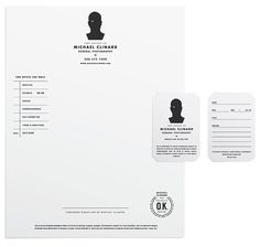 Identity and stationery for Seattle photographer, Michael Clinard - designed by Tim Lahan of  Trademark™   www.trademark-trademark.com
