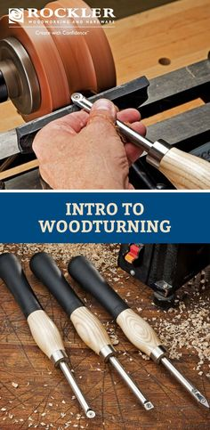 Woodworking Tips New to woodturning? This how to guide can help you figure out what tools you need including a lathe and turning tools as well as helpful safety tips. Wood Turning Lathe, Turning Tools, Wood Turning Projects, Wood Lathe, Diy Wood Projects, Wood Crafts, Router Wood, Pen Turning, Cnc Router
