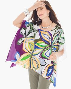 af95150955026 Abstract florals and butterfly sleeves— it just makes sense