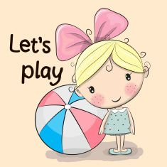 Find Cute Cartoon Girl Ball On Yellow stock images in HD and millions of other royalty-free stock photos, illustrations and vectors in the Shutterstock collection. Thousands of new, high-quality pictures added every day. Kitten Cartoon, Cute Cartoon Girl, Cute Images, Cute Pictures, Cute Clipart, Stick Figures, Penny Black, Copics, Colouring Pages