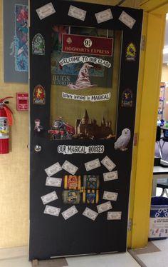 Harry Potter themed classroom door