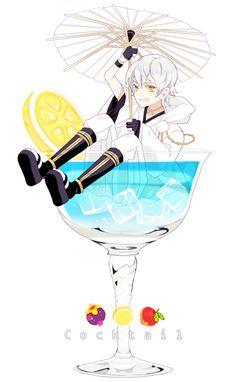 お題【酒】 初参加です! #鶴丸国永版お絵描き60分一本勝負