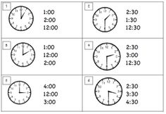 Swamp Frog First Graders, Scoot for telling time to hour and half hour, Scroll down for recording sheet.