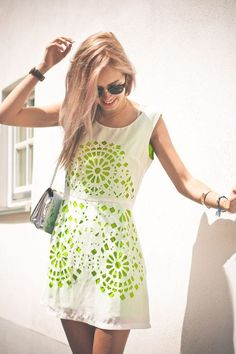 White Dress + Neon Cut-Outs