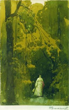 Vera Tretyakov in Kuntsevo - Ivan Kramskoy (Russian, 1837-1887) Realism