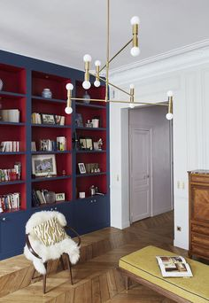 Стильные апартаменты в Париже от GCG Architectes | Пуфик - блог о дизайне интерьера