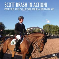 Scott Brash, world #1 and protected by #kep, is now at the winter equestrian festival in Florida!  #beprotected #beinspired!