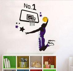 www.stickergallery.com.au basketball player dunking No. 1