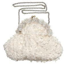 Girls Ivory Golden Painted Shoulder Bag (22cm), Patachou, Girl