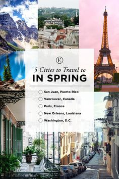 5 Cities to Travel to This Spring #theeverygirl