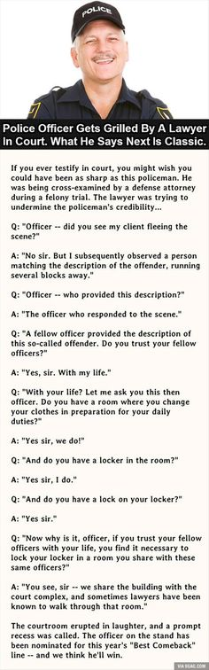 Cross-examined Cop Comeback Dump A Day Funny Pictures Of The Day - 62 Pics