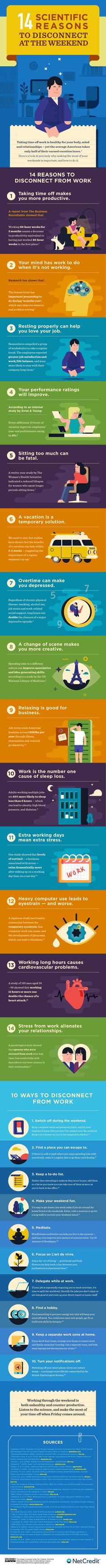 14 Scientific Reasons To Disconnect At The Weekend - #infographic