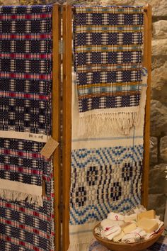 Weaving by Peggy Taylor of Loom Hall - See more on November 2019 at the From Our Hands Show in Peninsula, Ohio ~