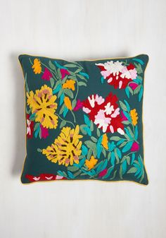 Grove to My Heart Pillow. Keep the comfort you find in your flowerbeds close by adding this pillow by Karma Living to your home! #multi #modcloth