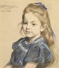 Portræt of Elisabeth Swing, née Bergh By Peder Severin Krøyer ,1902. Pastel on paper.
