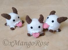 This cute Poro plush from League of Legends is looking for a companion. Make lots of them to help you on your adventure!
