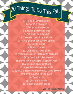 fall bucket list www.thepinningmama.com