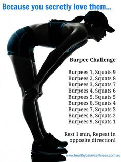 Burpees and squats