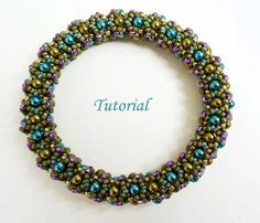 Free Seed Bead Patterns | Joyful Bangle. Beading Patterns and Projects by Ellad2