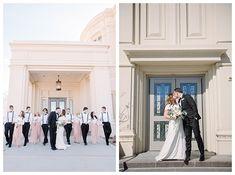 Paysen Temple LDS wedding by Utah photographer Brooke Bakken   LDS Bride and Groom   Modest Wedding Dress   Blush   Cream