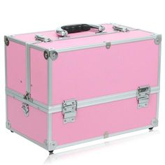 Train Case Makeup Brushes Cosmetic Organizer Box 00's Makeup, Makeup Cosmetics, Makeup Brushes, Organiser Box, Train Case, Makeup Application, Baby Items, Organisers, Amazon Fr
