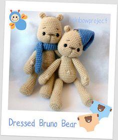 Bruno Bear jr amigurumi