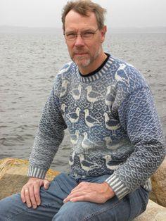 Knitting Patterns Men Ravelry: Seagull pattern by Ruth Sorensen Loom Knitting Patterns, Knitting Charts, Knitting Designs, Knitting Socks, Knitting Tutorials, Free Knitting, Stitch Patterns, Sweaters For Women, Men Sweater