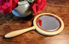Hand Mirror - Woodturning Projects and Techniques - Woodwork, Woodworking, Woodworking Plans, Woodworking Projects