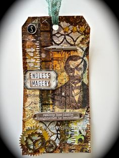 Artfully Challenged: Tim Holtz August 2014 tag.....version 2