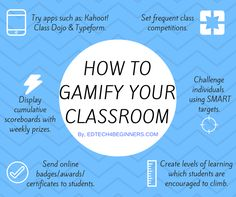 Gamification is the process of making learning into a game. It is made up of a number elements: Giving online badges to students. Setting goals and competitions. Giving instant feedback. Creating …